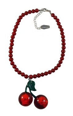 Kreepsville 666 Red Cherry Skull Necklace