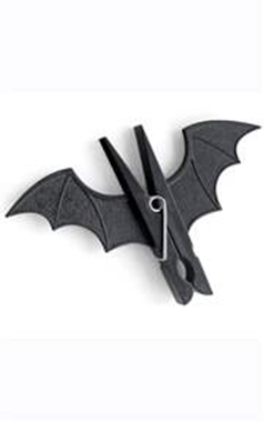Black Gothic Bat Pegs