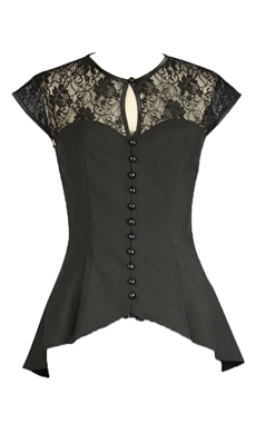 Chic Star Black Victorian Lace Top