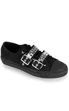 Demonia Gothic Studded Canvas Shoe