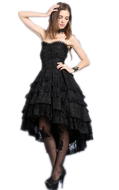 Dark In Love Gothic Layered Lace Dress