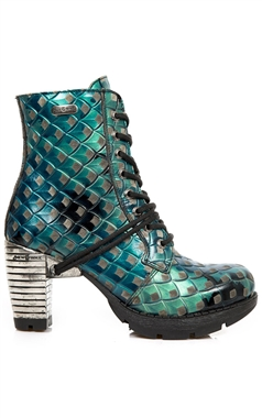 New Rock Gothic Sea Green Scale Boots M.TR060-C9