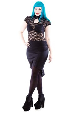 Necessary Evil Gothic Aurora Lace Top