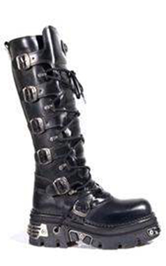 New Rock Mens Knee High Biker Boots M272S1