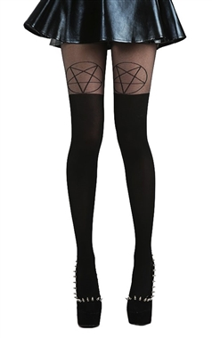 Pamela Mann Black Pentagram Tights