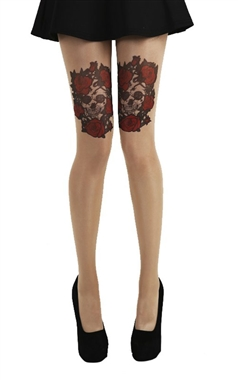 Pamela Mann Skull And Roses Tights