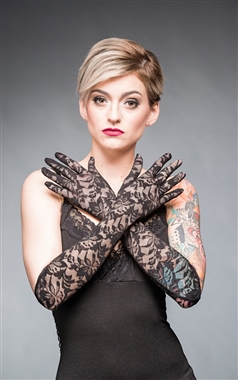 Queen Of Darkness Gothic Lace Gloves