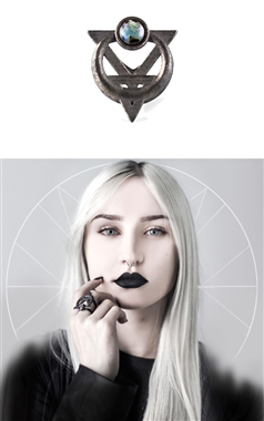The Rogue and The Wolf Ring of Possession in Slate Steel