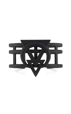 The Rogue and The Wolf Rune of Divination Cuff in Black