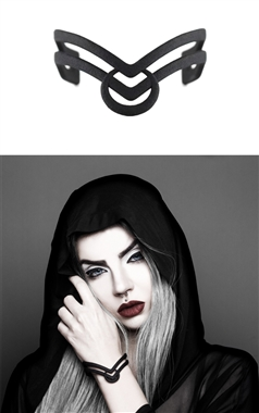 The Rogue and The Wolf Glyph of Acceptance Cuff in Black