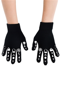 Rat Baby Gothic Symbol Gloves