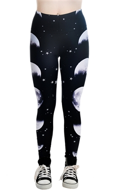 Rat Baby Gothic Phases Of The Moon Leggings