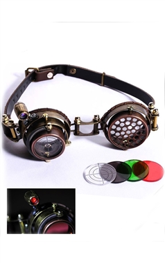 RQBL Steampunk Tesla Electric Goggles