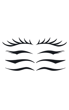 Stargazer Temporary Eye Liner Tattoo