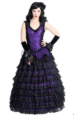 Sinister Gothic Purple Victorian Dress