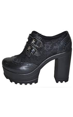 Steel Ground Gothic Brogue Heels