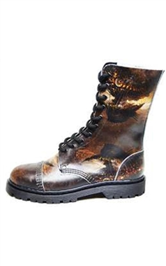 Steel Ground Steampunk Leather 10 Eye Boots