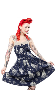 Sourpuss Retro Walk The Plank Dress