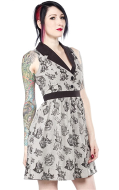 Sourpuss Gothic Crafty June Dress