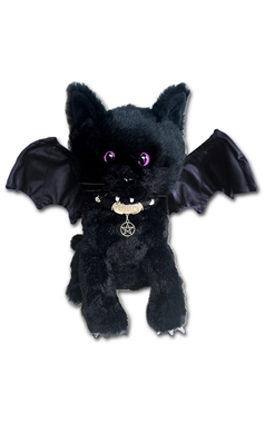 Spiral Gothic Bat Cat Plush Toy