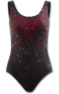 Spiral Gothic Blood Rose Swimsuit