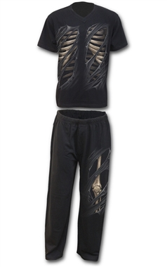 Spiral Mens Bone Rips 4 Piece Pyjama Set