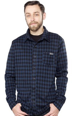 Sourpuss Alternative Navy Plaid Shirt