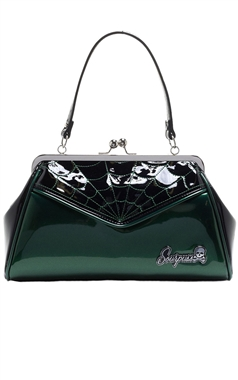 Sourpuss Retro Green Web Backseat Baby Purse