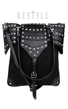 Restyle Gothic Black Armor Bag