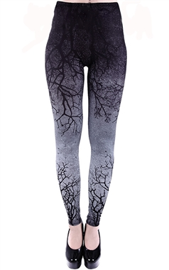 Restyle Gothic Gray Branch Leggings