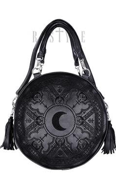 Restyle Black Henna Round Bag