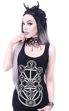 Restyle Gothic Sacred Geometry Vest