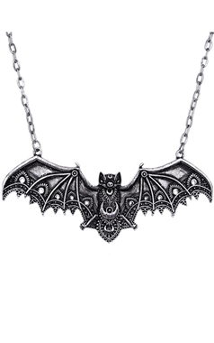Restyle Gothic Ornate Bat Necklace