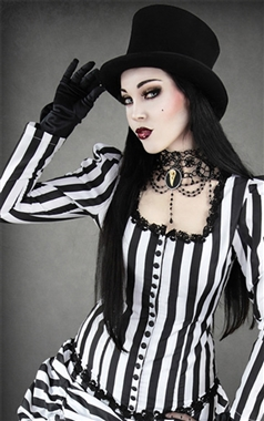 Restyle Gothic Black Top Hat