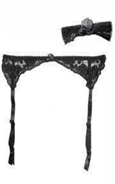 Black Lacy Suspender Belt