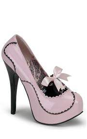 Bordello Black and Pink Patent Shoes
