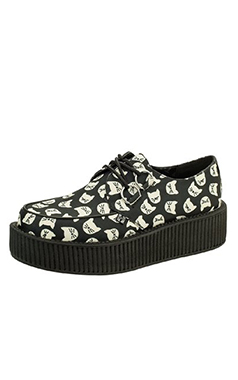 TUK Gothic Viva Hi Sole Kitty Print Creeper