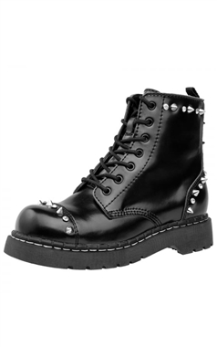 T.U.K Anarchic Studded Gem Leather Boots