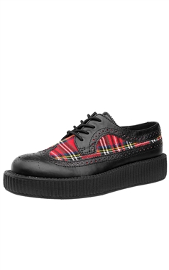 TUK Tartan Wingtip Low Viva Creeper